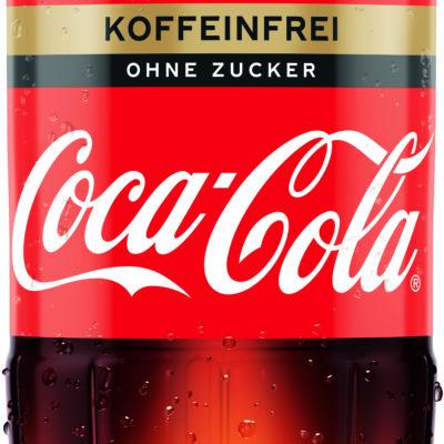 COCA-COLA zero sugar koffeinfrei 12 x 1 L PET Mehrweg Flasche