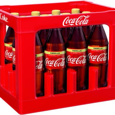 COCA-COLA VANILLA – 12 x 1 L PET Mehrweg Flasche