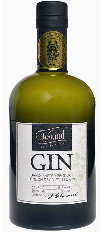 Gin London Gin Distilled Handcraftet Brennerei Westerwald Weyand