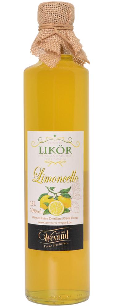 Likoer-Zitronenlikoer-Limoncello-Westerwaelder-Edeldestillerie Brennerei Weyand
