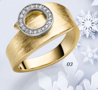 Ring 925/- Silber vergoldet mit Zirkonia