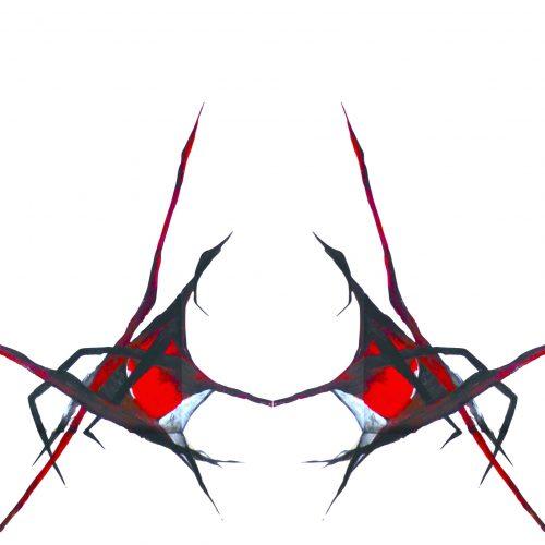 Grußkarte Rote Spinne außen jpg